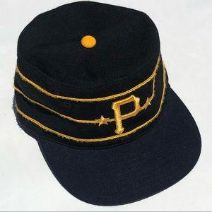 Vintage Pittsburgh Pirates pill box cap sz 6 7/8